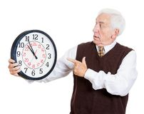 Old man in rush Royalty Free Stock Images