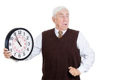 Old man in rush Stock Photo
