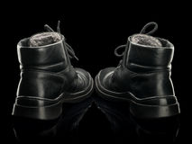 Old man's boots Royalty Free Stock Images