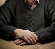 Old Man's Hands Stock Photography
