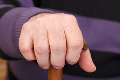 Old man's worker hand Royalty Free Stock Images