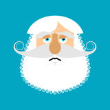 Old man sad Emoji. senior with gray beard face sorrowful emotion.  Royalty Free Stock Image