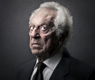 Old man. With a sad face royalty free stock images