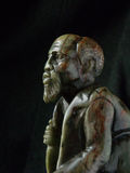 Old Man Sculpture Africa. Verdite sculpture of old African man stock images