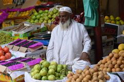 Old Man Selling Fruits in India