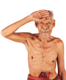 Old man sick ,headache Stock Image