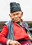 Old man sit in the retirement home, Kathmandu, Nepal Royalty Free Stock Photos