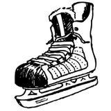 An old man skate Stock Image