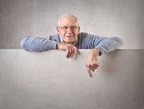 Old man smiling Royalty Free Stock Images