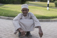 Old man in Sohar, Oman Stock Image