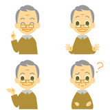 Old man, speaking,surprised,confuse Stock Photography