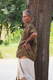 An old man in Sri Lanka Stock Image