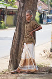 An old man in Sri Lanka Royalty Free Stock Photo