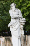 Old man Statue in Garden - Paris Royalty Free Stock Photos