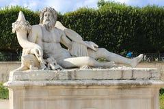 Old man Statue in Garden - Paris Stock Image