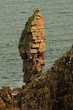 Old man of Stoer seastack, Scotland. The old man of Stoer, is a sea stack on the western coast of Assynt, in the Scottish highlands, a couple of miles north of Stock Photography