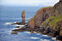 The Old Man of Stoer. Stunning rock formation called Old Man of Stoer at the northwestern edge of the Scottish Highlands / United Kingdom Royalty Free Stock Photography