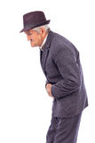 Old man with stomach pain Royalty Free Stock Photography