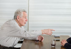 Old man stories Royalty Free Stock Image