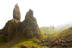 Old Man of Storr. Intrusive outcrop known as the 'Old Man of Storr', Isle of Skye ,Scotland Royalty Free Stock Images