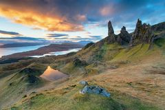 The Old Man of Storr on the Isle of Skye royalty free stock photos