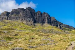 The Old Man Of Storr Isle of Skye. At sunny day in autumn Royalty Free Stock Photography