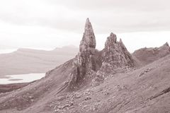 Old Man of Storr; Isle of Skye; Scotland Royalty Free Stock Photo