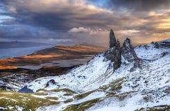 The Old Man of Storr. Isle of Skye, Scotland stock image