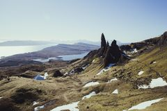 Old Man of Storr, Isle of Skye, Scotland royalty free stock photography