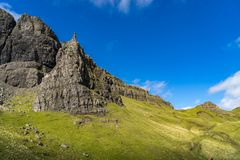 The Old Man Of Storr Isle of Skye. At sunny day in autumn Stock Photos