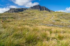 The Old Man Of Storr Isle of Skye. At sunny day in autumn Royalty Free Stock Photos