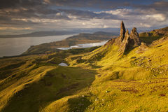 Old Man of Storr IV. Sunrise at Old Man of Storr, Isle of Skye, Scotland, UK Stock Photography