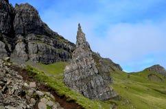 Old Man of Storr Landscape. Landscape at the Old Man of Storr in Scotland Stock Photos