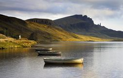 Old Man of Storr over Loch Stock Image