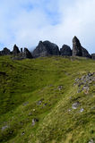 Old Man of Storr Rock Formation. Olf Man of Storr rock formation on the Isle of Skye in Scotland Stock Photography
