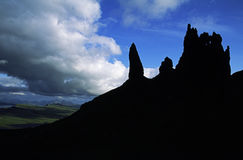 Old Man of Storr silhouette Royalty Free Stock Images