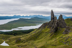 The Old Man of Storr, Skye. In Scotland Royalty Free Stock Images