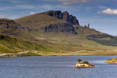 Old Man of Storr V. Sunrise at Old Man of Storr, Isle of Skye, Scotland, UK Stock Photography