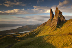 Old Man of Storr VI. Sunrise at Old Man of Storr, Isle of Skye, Scotland, UK Royalty Free Stock Photography