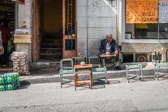 Old man on the street in Istanbul, Turkey Royalty Free Stock Photos
