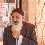 Old man at the street market in Shiraz, Iran Royalty Free Stock Photography