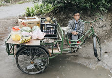 Old man street vendor in China Stock Images