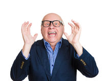 Old man surprised Royalty Free Stock Photos