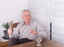 Old man talking Royalty Free Stock Photo