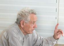 Old man talking Stock Photos
