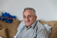 Old Man Tearful For His Lost Stock Images