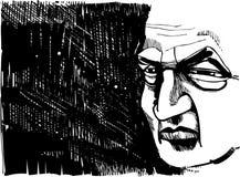 Old man thinking royalty free illustration