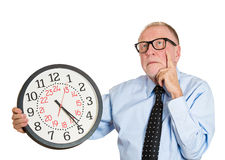 Old man thinking about past times Royalty Free Stock Photos