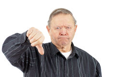 Old man thumbs down Royalty Free Stock Photos