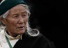 The Old Man, Tibet, Vicissitudes Royalty Free Stock Images